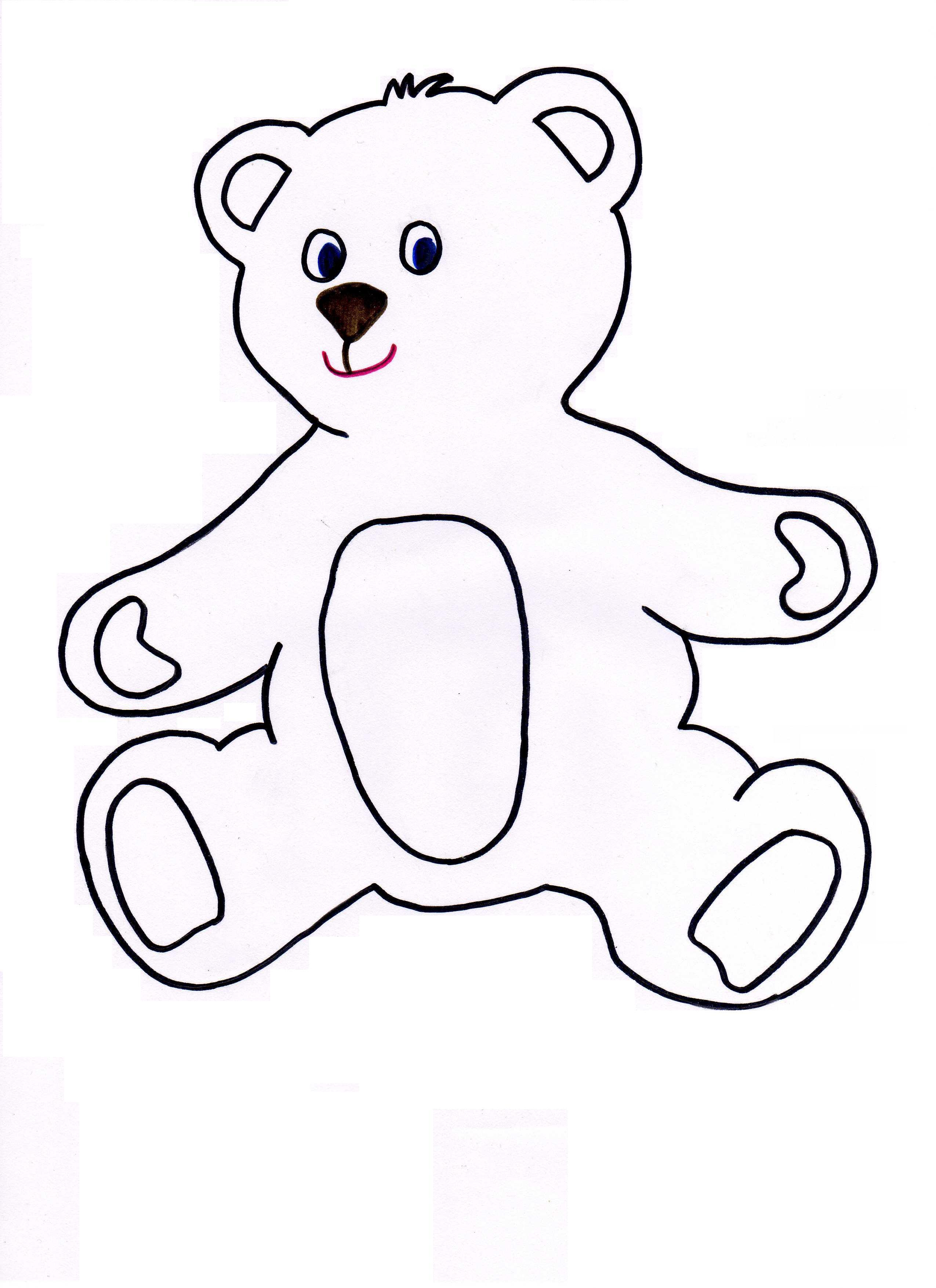 Denim Teddy Bear Pattern | Teddy bear patterns free, Teddy ... |Teddy Bear Template